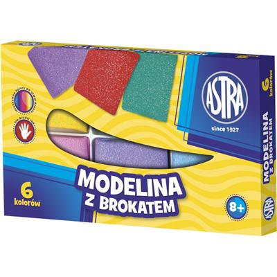 MODELINA 6 KOLORÓW ASTRA Z BROKATEM-14017