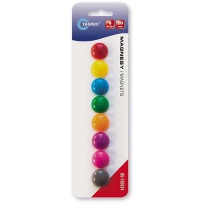 MAGNESY TT 20MM 8 sztuk mix kolorów-39271