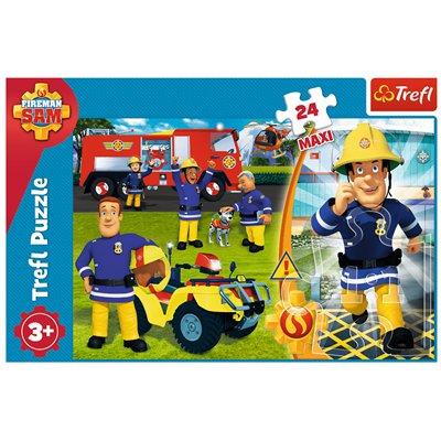 Puzzle 24 maxi Dzielny strażak Sam TREFL-44726
