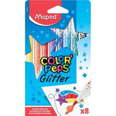 Flamastry brokatowe MAPED COLORPEPS , 8 kolorów-34282
