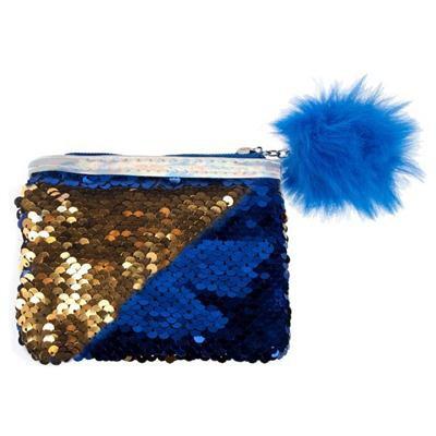 Starpak, portmonetka z cekinami, niebieska-35149