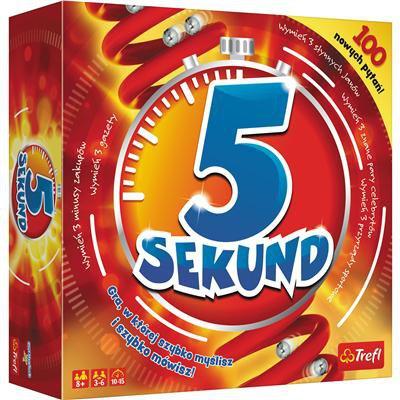5 Sekund gra planszowa nowa edycja Trefl czerwona-46369