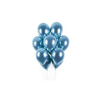 """Balony """"Shiny"""", niebie chrom, Gemar, 13"""", cena/szt-36367"""