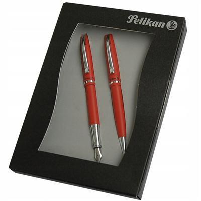 Zestaw długopis + pióro wieczne Pelikan JAZZ RED-37577