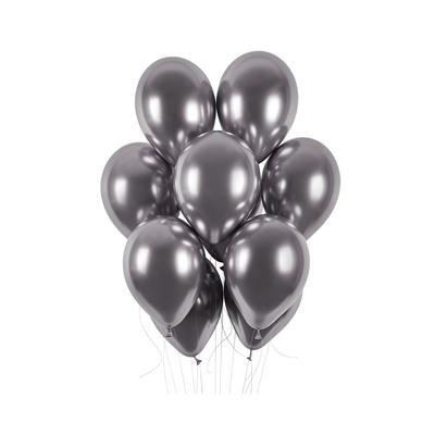 "Balony ""Shiny"", grafit chrom, Gemar, 13"", cena/szt-37644"