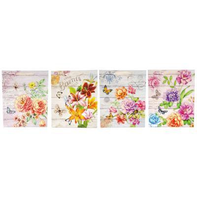 Torebka prezentowa kwiaty 8924B 26x32x10cm-40906