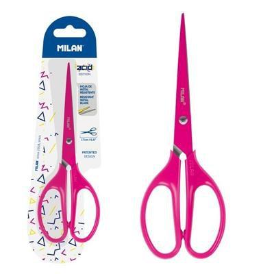 Nożyczki biurowe 17cm różowe MILAN-41099