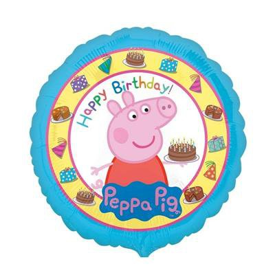 """BALON FOLIOWY 18"""" CIR-PEPPA PIG HAPPY BIRTHDAY-45205"""