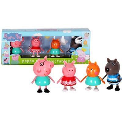 Świnka Peppa urocze figurki Tata Peppa Kot Pies-42701