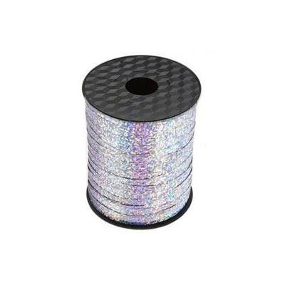 Wstążka ozdobna holograficzna - srebrna - 204 m.-45043
