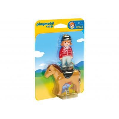 Playmobil - 1.2.3 Jeździec z koniem 6973-45607