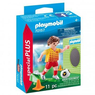 Playmobil - Piłkarz ze ścianką treningową 70157-45633