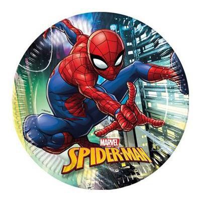 Talerzyki papierowe SPIDERMAN Team Up, 23cm, 8szt-45661