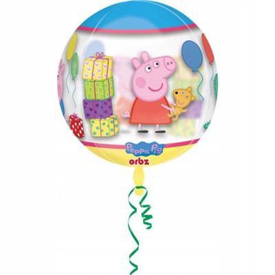 Balon foliowy ŚWINKA PEPPA w kształcie KULI 40 cm-46995