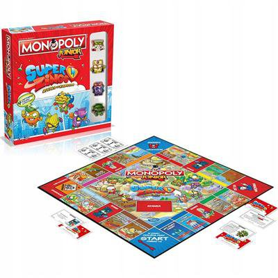 Gra Monopoly SuperZings Junior planszowa 4 figurki-47063