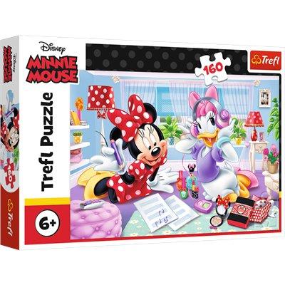 Puzzle 160 el. Minnie Dzień z przyjaciółką Trefl-37963