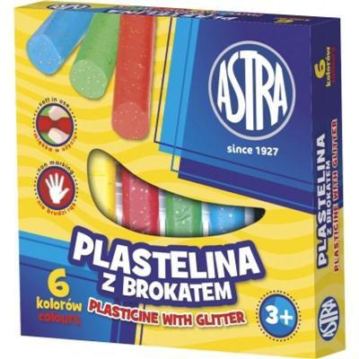 plastelina brokatowa 6 kolorów astra-37172