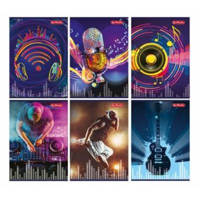 Zeszyt A5 60 kartek kratka Music HERLITZ-43873