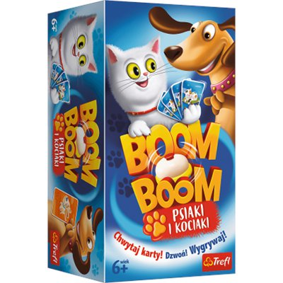 Trefl gra planszowa Boom Boom Psiaki i kociaki-46424