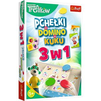 GRA - Trefliki 3w1 Domino Pchełki Kuku 01921-46431