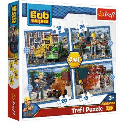 PUZZLE 4W1 BOB BUDOWNICZY PRACOWITY DZIEŃ TREFL-46896