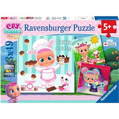 RAVENSBURGER PUZZLE CRY BABIES MAGIC TEARS 3X49-46028