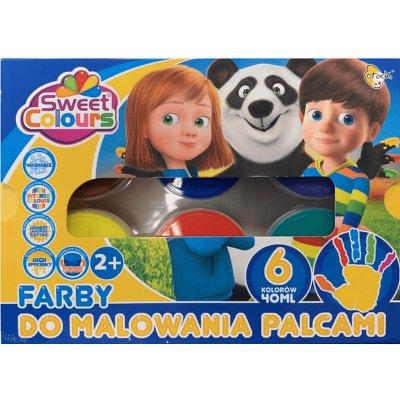 FARBY DO MALOWANIA PALCAMI 6kol 0409 0218