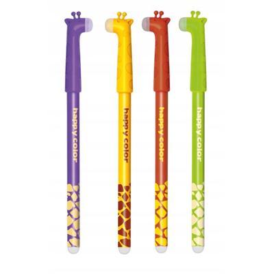 Długopis wymazywalny Happy color - Żyrafy-48386
