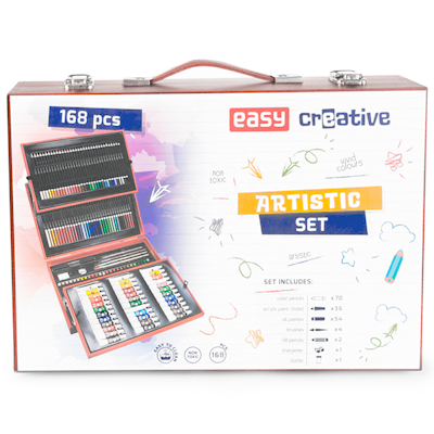 Zestaw artystyczny Easy 168 elementów w walizce-49716