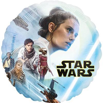 Balon foliowy okrąg Star Wars dwustronny wzór 43cm-51283