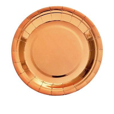 Talerze papierowe Rose Gold 23 cm, 9 szt.-52742