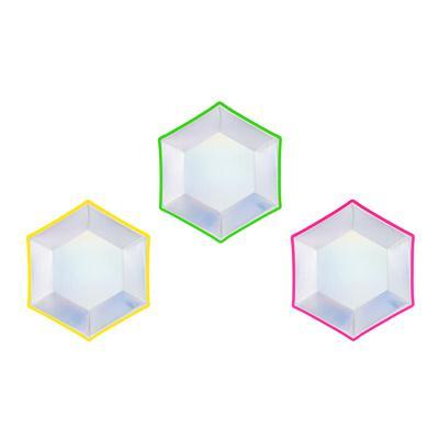 Talerzyki, mix, holograficzny, 20 cm, 6 szt.-52546