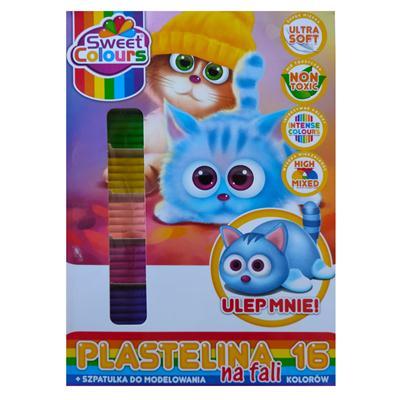 Plastelina 16 kolorów na fali Koma-Plast-53107