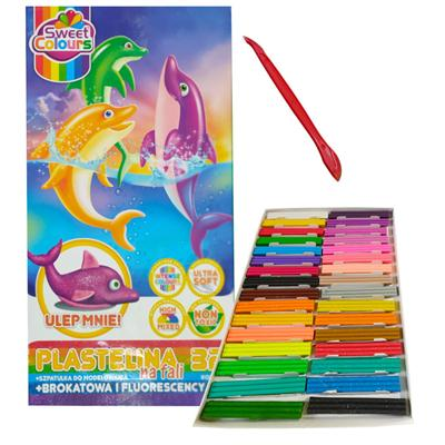 Plastelina 32 kolory na fali Koma-Plast-53109