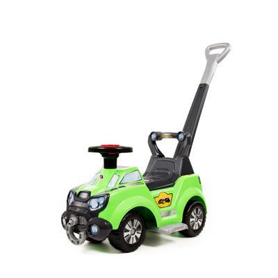 Samochód-Jeździk Sokol z rączką i podnóżką zielony-53361