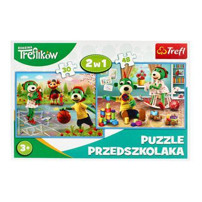 Puzzle 30+48 elementów Rodzina Treflików-54857
