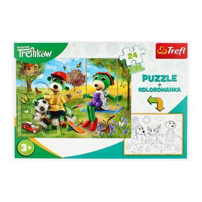 Puzzle 24 elementy z malowanką Rodzina Treflików-54855