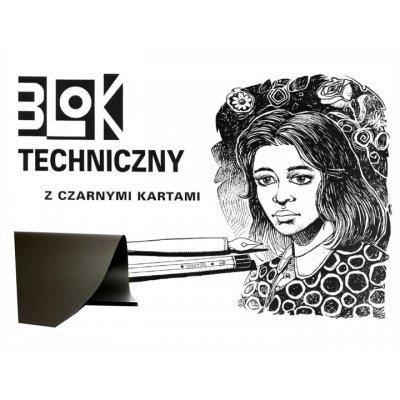 BLOK TECHNICZNY A3 CZARNY KRESKA 00015
