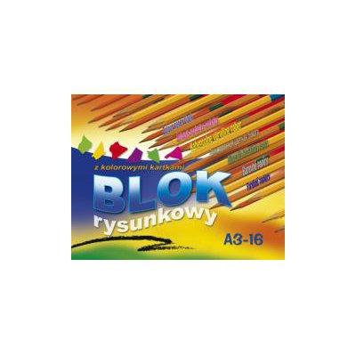 Blok rysunkowy kolorowy A3 16 kartek Kreska
