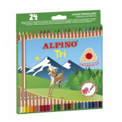 Kredki ołówkowe trójkątne 24 kolorów Alpino Tri