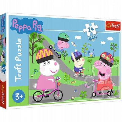 Puzzle 24el Maxi Aktywny dzień Świnki Peppy. Peppa