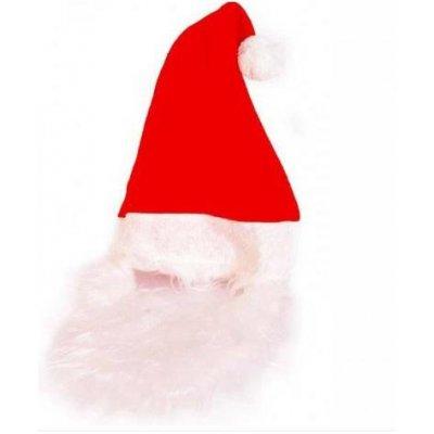Mikołaj - czapka + broda (super)