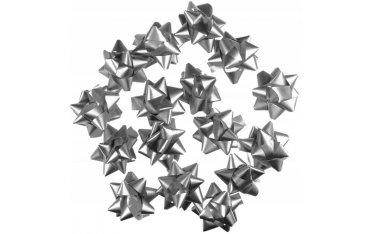 Kokardki samoprzylepne (16 szt.) srebrne