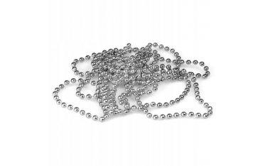 Łańcuch perełki 4 mm srebrny