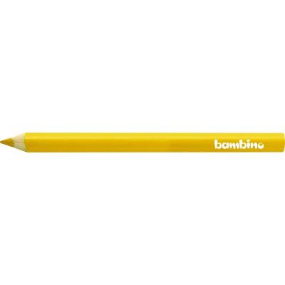 Kredka Bambino Żółta Drewno Trójkątna