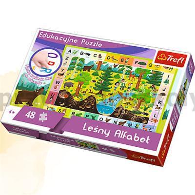 15520 Leśny Alfabet - Puzzle Edukacyjne