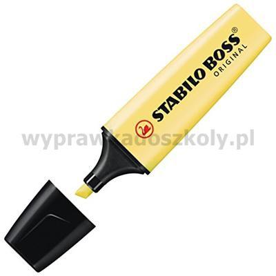 Zakreślacz STABILO Boss pastelowy żółty 70/144