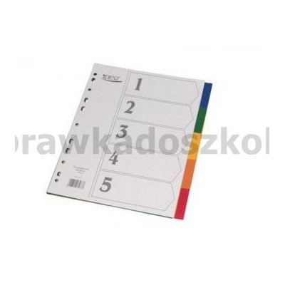 PRZEKŁADKI KARTONOWE 1-5 KOLOR TT 48-220020