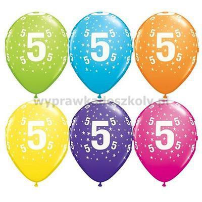 """Balon QL 11"""" z nadr.5 pastel mix tropikalny 25SZT"""