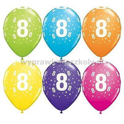 """Balon QL 11"""" z nadr.8 pastel mix tropikalny 25SZT"""